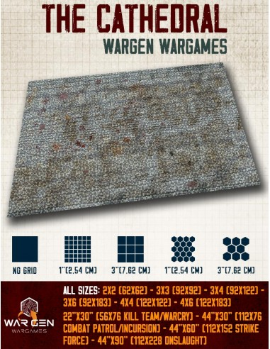 The Cathedral  - Wargames Gaming Mat