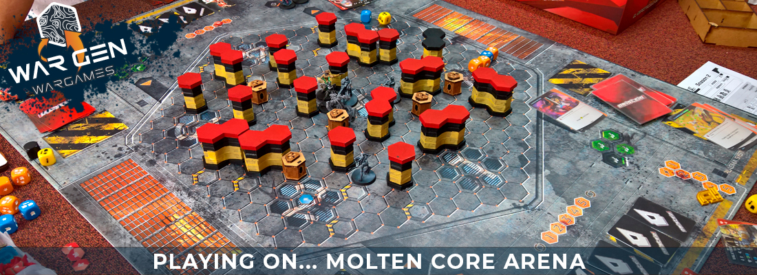 Molten Core Arena - Aristeia Compatible Gaming Mat