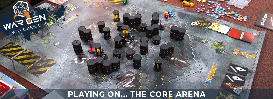 The Core Arena - Aristeia Compatible Gaming Mat